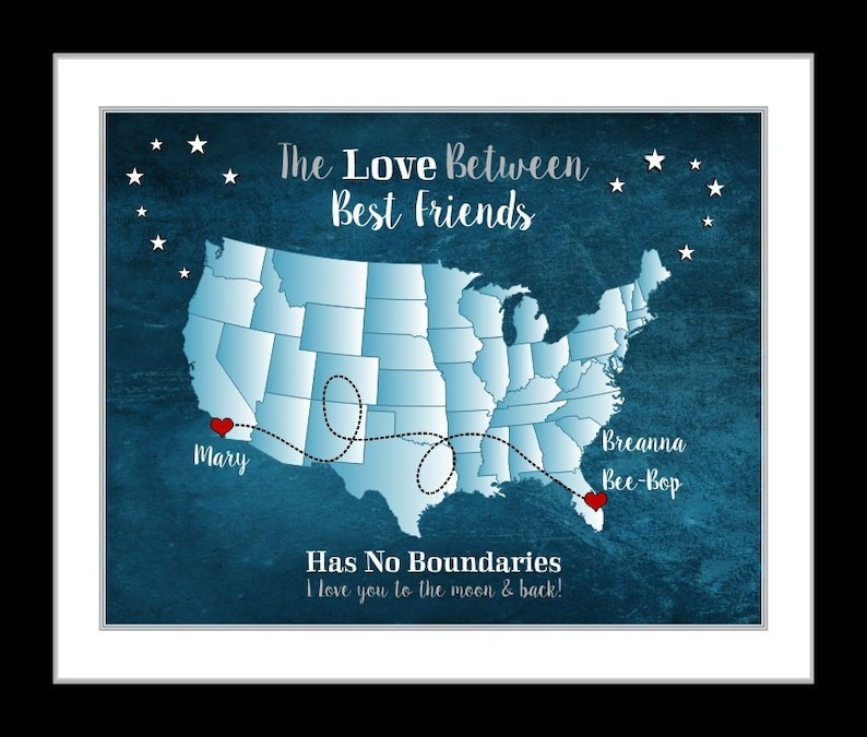 Personalized Best Friend Birthday Gift Long Distance