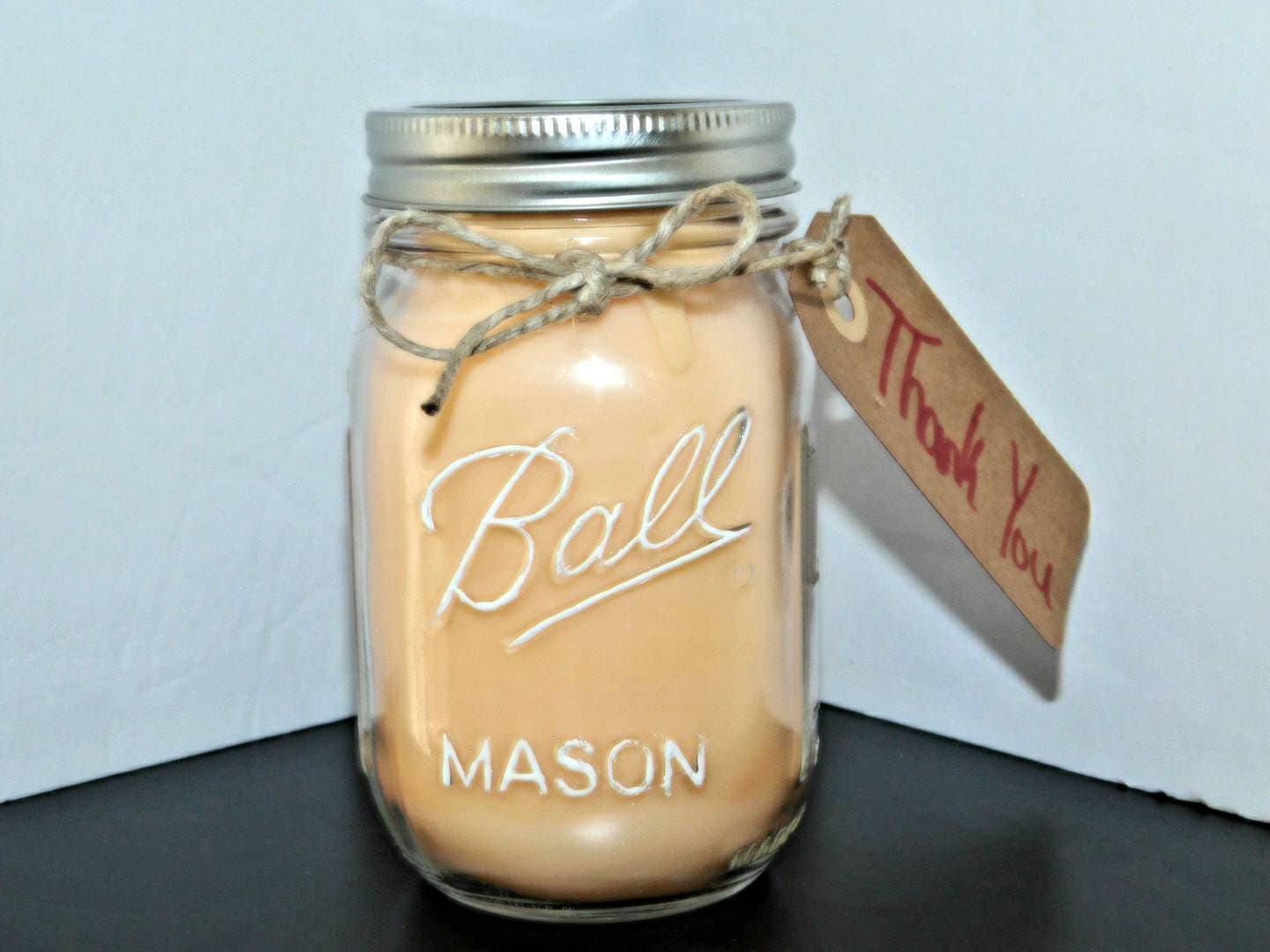 Thank You Mason Jar Candles Sweet Scented Candles Extra Scented Soy Blend Mood Candles Colorful Gift Ideas Vanilla Orange