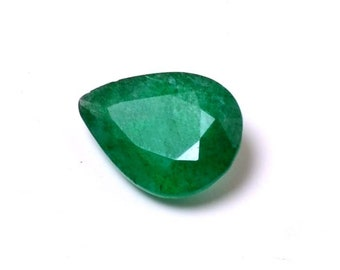 4.3 Cts  A++ Attractive Natural Beryl Emerald Handmade Pear Translucent Loose Gemstones Beautiful Pear Shape Gemstone