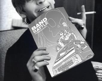 Band Battle Comic - Zine, Riso, Handmade, Print, Graphic Novel, Music, Risograph