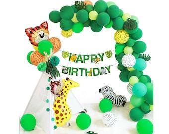Jungle Theme Party Supplies Safari Decorations Animal Balloons