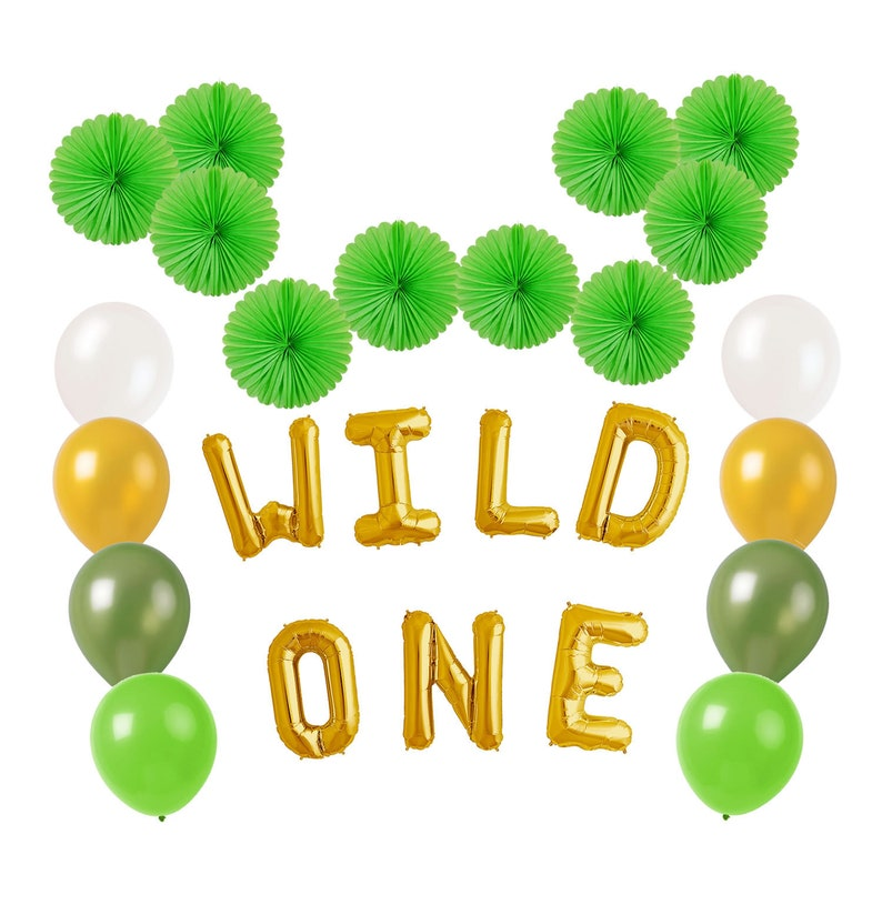 Wild One Balloons Banner Birthday Decorations Party Supplies
