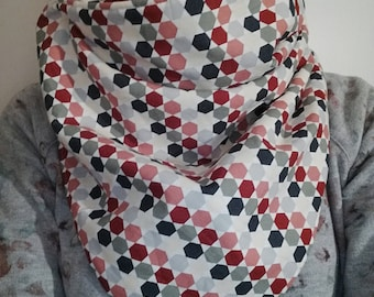 Fleece and coton scarf / Echarpe polaire et coton