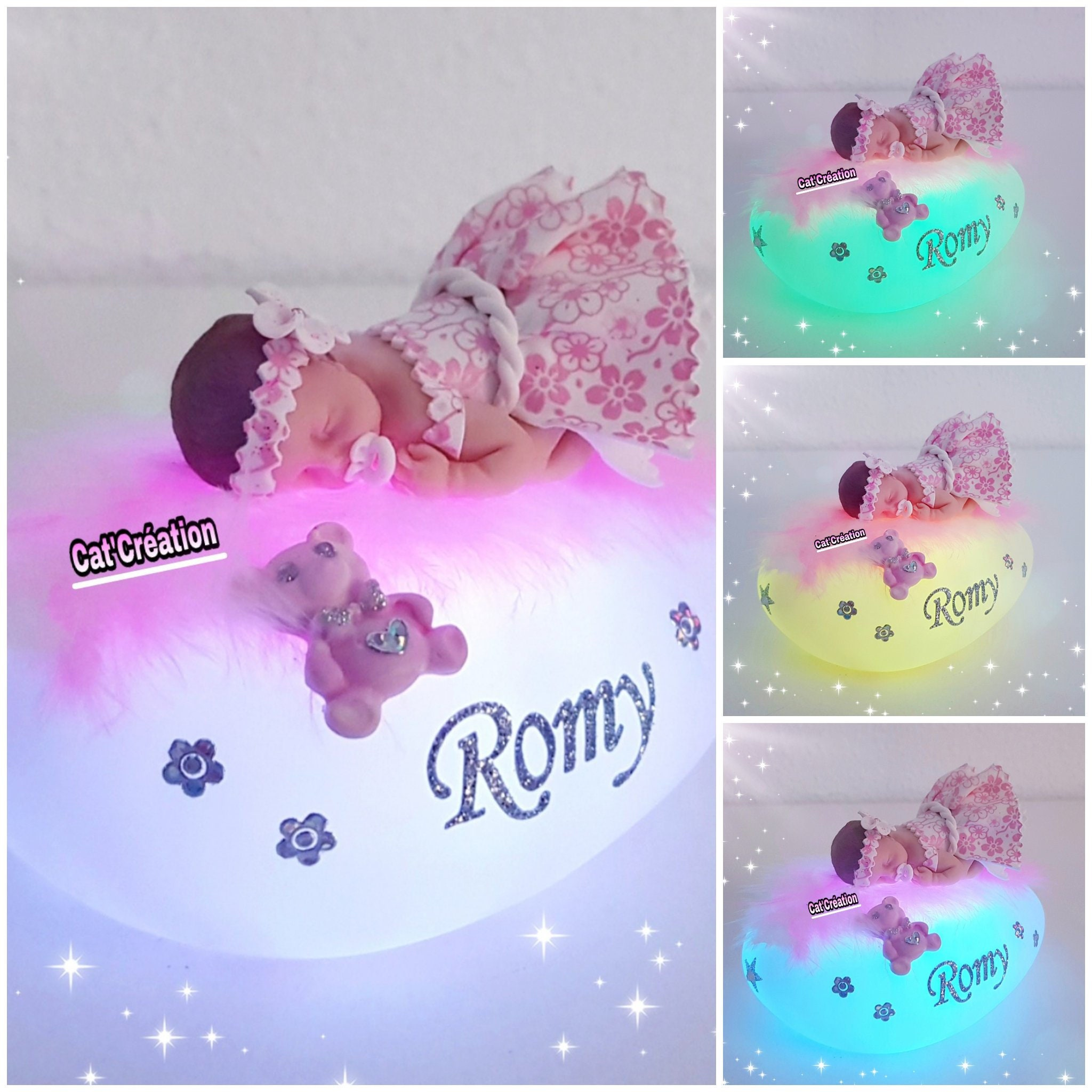 Cadeau Originale Baby Shower led nightlight birth baptism baby shower birthday christmas gift mother's  day decor baby room kids pregnancy