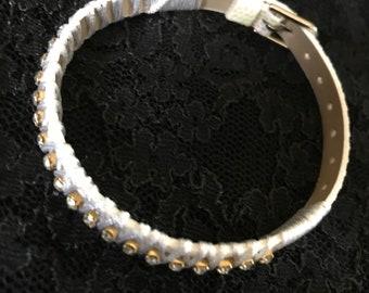 Faux leather wristband