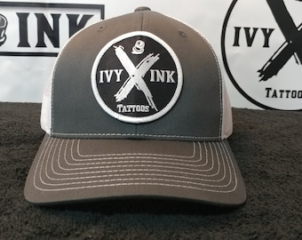 Ivy Ink Grey and White Trucker Hat