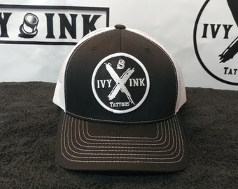 Ivy Ink Black and White Trucker Hat