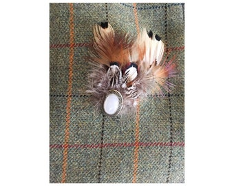 Pheasant Feather Brooch
