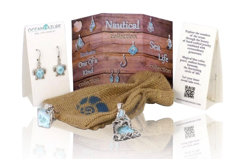 Ocean Inspired Sea Life Jewelry you/'ll love! Beautiful Sterling Silver Sea Turtle Stud Earrings with Round Larimar stone