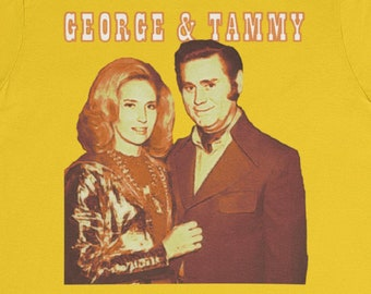 George and Tammy Forever T-Shirt / George Jones Tammy Wynette Mr. and Mrs. Country Music Divorce 1960s 1970s Classic Trucker Loretta Lynn