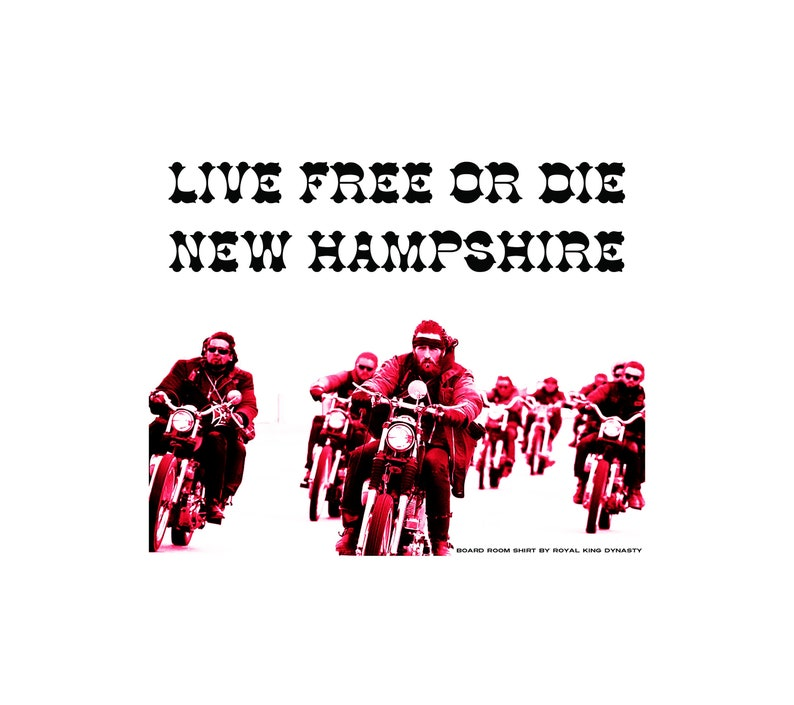 Live Free or Die New Hampshire Moto-Savages T-Shirt / Hell's Angels MC LFOD  Outlaw Biker Devils Diciples Warlocks Thrift Haul Granite State