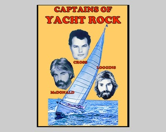 Captains of Yacht Rock T-shirt / Unisex Women's Sailing Sailboat Kenny Loggins Christopher Cross Gift for Her Him Father's Day Birthday