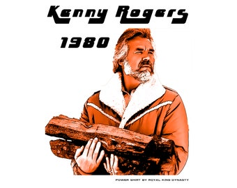 Kenny Rogers 1980 Unisex T-Shirt / Vintage Country Music 1980s Nashville Bakersfield Cool Western Retro Unique Classic Trucker Hipster