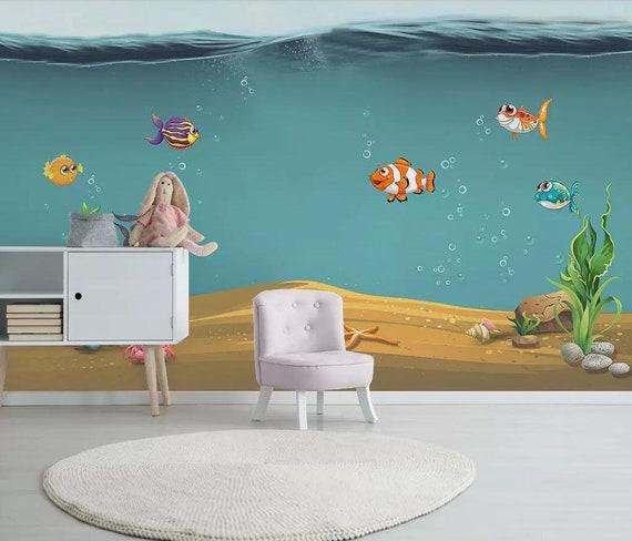 Underwater Cartoon Nemo Sea Full Wall Mural Photo Wallpaper Print Home Deco Kids
