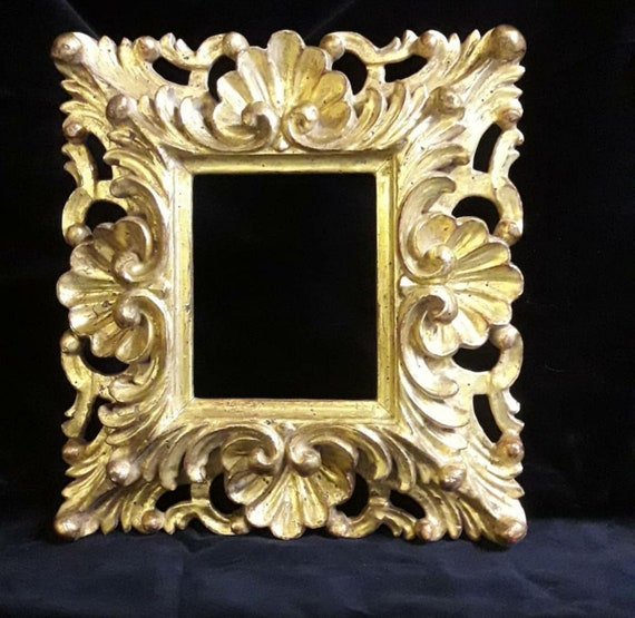 Französischer Barock Holz Bilderrahmen in Antik Stil Kunstvoll Verziert Gold