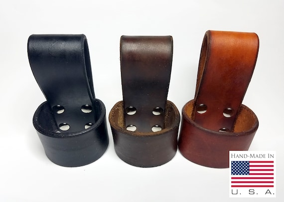 Leather Ax Belt Holder Holster Ax Belt Loop Handmade in USA Top Grade Leather