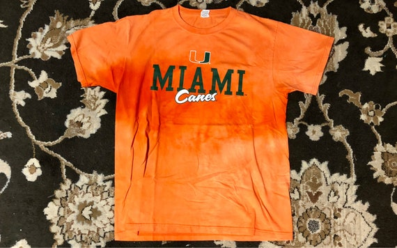 """Vintage Bleached Miami University (Florida) """"Canes"""" T Shirt by 1998 Gallery"""