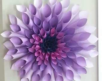 Paper and Material Custom Made To Order  Dahlia Wreaths