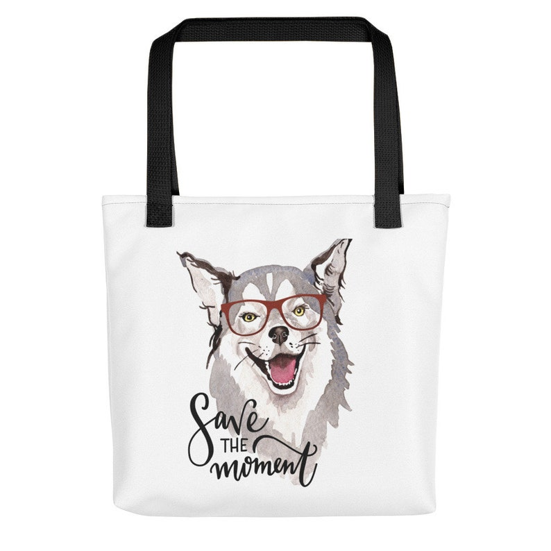 011633dece764 Rescue Dog Tote Bag Husky Wolf Gifts for Husky Lovers