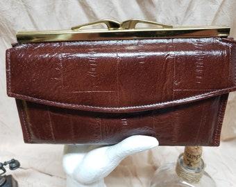 Vintage New never used! Classy 1970 Eel Skin Brown wallet Vintage Boho eel skin wallet, classy wallet