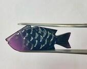 Tourmaline carved fish he...
