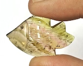 Tourmaline carved fish he...