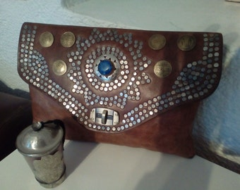 Moroccan  hand made leather bag