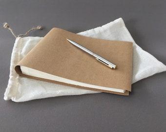 Handmade notebook vegan leather