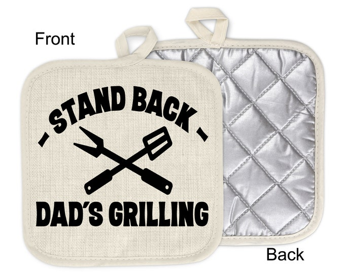 Gift for Him Father/'s Day Gift Barbecue Pot Holder Camper Gift Kitchen Decor Stand Back Dad/'s Grilling Pot Holder