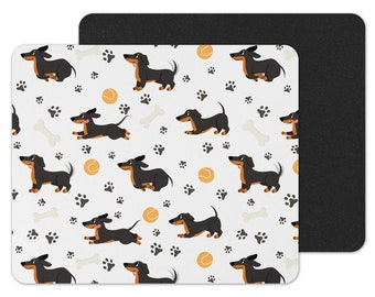 - Dachshund, Dog Mousepad, Vintage-Style, Sausage Dog, Wiener Dog, Coworker Gift, Dog Lover Gift, Cute Birthday Gift Doxie Mousepad