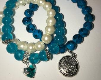 Beaded bracelet set, stack bracelets, bracelet stack
