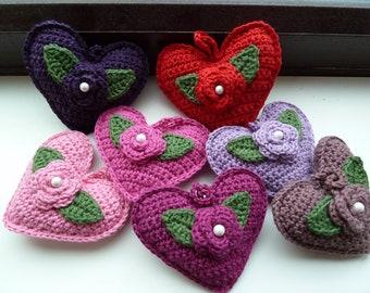 Crochet heart decoration