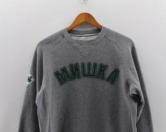 98c4c2e376d Vintage 90s MNWKA MISHKA Streeweart Sweatshirt Unisex Medium Spell Mishka  NYC Sweater Pullover Grey Colour Mnwka Cartoon Jumper Size M