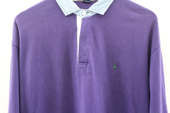 POLO RALPH LAUREN Small Pony Polo Shirt homme grand Polo Sportswear bouton manches  longues chemise Polo ... f95bb84b23c4