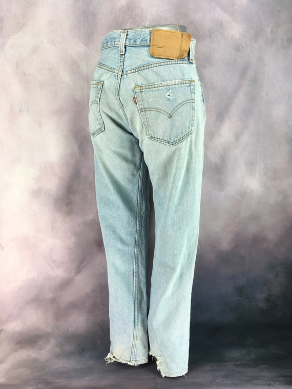 Vintage 80s Lee Stonewashed Jeans  High Rise Waist /& Tapered Leg  Women/'s Size 14 Medium  29 Inch Waist  Free US Shipping