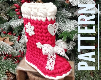 Victorian Boot Stocking and Christmas Ornament Crochet Pattern