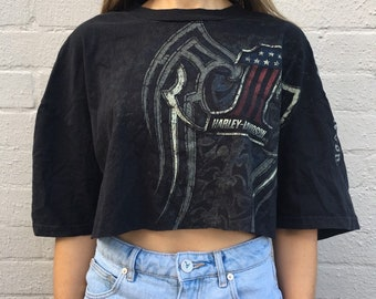 9955a75ab9 Harley Davidson crop tshirt