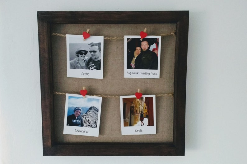 Wooden Peg Photo Frame