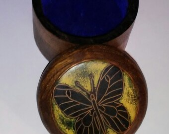 Butterfly jewelry box. One of a kind.