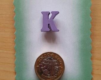 Initial pin badge, letter K