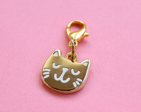 Golden Kitty Bullet Journal Charm