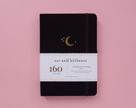 Archer & Olive Ultra Thick 160gsm Paper Dot Grid Journal - Crescent Moon
