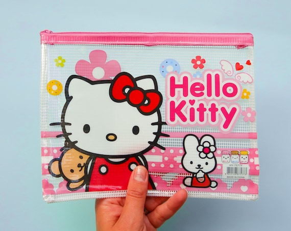 Hello Kitty Vinyl Stationery Pouch - Kawaii Pencil Case - Japanese Import Stationery Pouch
