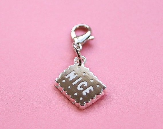Silver Nice Biscuit Bullet Journal Charm