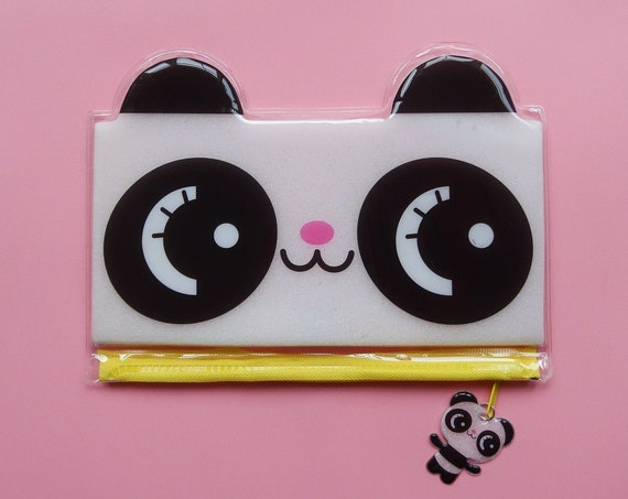 Cute Panda Puff Pencil Case