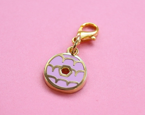 Lilac Iced Ring Biscuit Bullet Journal Charm