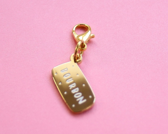 Golden Bourbon Bullet Journal Charm - Hard Enamel Planner charm