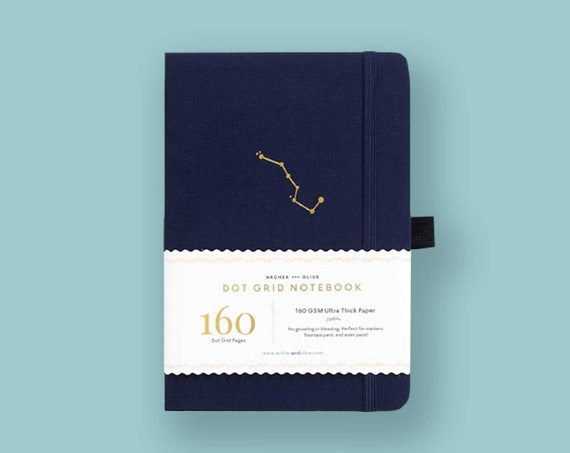 PRE-ORDER - Archer & Olive Ultra Thick 160gsm Paper Dot Grid Journal - Navy Night Sky
