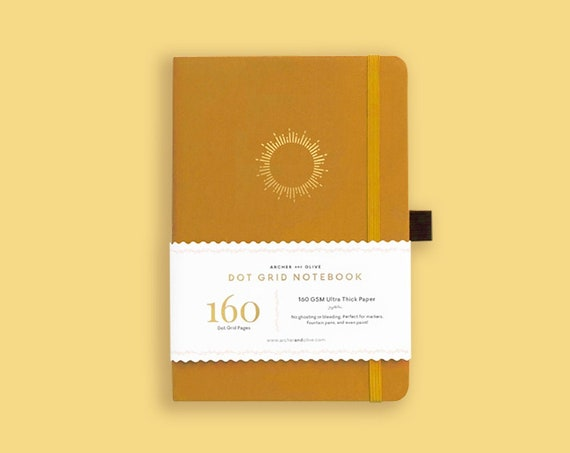 PRE-ORDER - Archer & Olive Ultra Thick 160gsm Paper Dot Grid Journal - Morning Sun