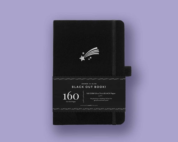 PRE-ORDER - Archer & Olive Blackout Book - Ultra Thick 160gsm Paper Dot Grid Journal